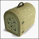กระเป๋าหวายเทียมทรงโดมใส่สัตว์เลี้ยงเพื่อเดินทาง (รุ่นเกรด A ประตูรายเท้าหมาแมว )
