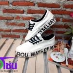 รองเท้าผ้าใบแฟชั่นเกาหลี สีขาว รุ่นB7711 เบอร์36-40