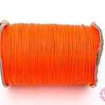 เชือกค๊อตต้อนเคลือบ สีส้มแสด 1.0มิล(1ม้วน)(100หลา)
