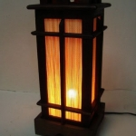 โคมไฟไม้แบบตั้งโต๊ะ Wooden Table Lamp