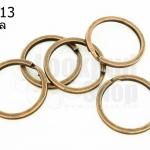 ห่วงพวงกุญแจ 2 ชั้น ทองแดง 25 มิล(5ชิ้น)