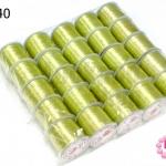 เอ็นยืด สีเขียวตอง ม้วนใหญ่ (25ม้วน)