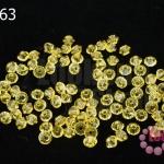 คริสตัลสวารอฟสกี้ (SWAROVSKI) สีเหลืองทอง(226) 3มิล(100เม็ด)