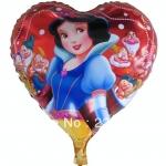 ลูกโป่งฟลอย์ลายสโนว์ไวท์ ทรงหัวใจ (แพ็ค10ใบ) / Item No. TL-A019