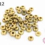 ลูกปัดทองเหลือง กลมแบน 5มิล (1ขีด/100กรัม)