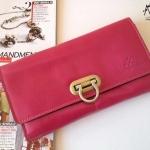 พร้อมส่ง กระเป๋าเงินใบยาว MUSE สีชมพู งานหนังแท้ทั้งใบ แบบสวยเก๋ ค่ะ