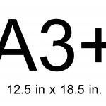 A3+ (12.5 X 18.5 นิ้ว)