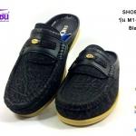 รองเท้าคัชชูเปิดส้น SHOEPER (ชูเปอร์) รุ่น M1-26145 สีดำ เบอร์40-45