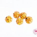 บอลเพชร เกรดดี 8 มิล สีส้ม