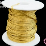 เชือกหางหนู สีทอง 2มิล(1หลา/90ซม.)