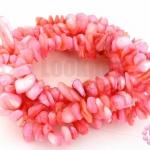เปลือกหอย สีชมพูอ่อน 5มิล(1เส้น)
