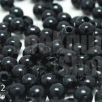 ลูกปัดมุก พลาสติก สีดำ 3มิล (1ขีด/100กรัม)
