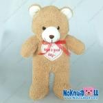ตุ๊กตา หมียืน กู๊ดเดย์ ผ้าขนหนู เล็ก-14นิ้ว
