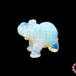 หินมูนสโตน ช้าง 24X50มิล (1ชิ้น)