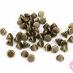 หมุดแหลม สีทองเหลือง 8มิล(1ขีด/605ชิ้น)