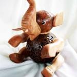 โคมไฟกะลามะพร้าวรูปช้าง Coconut shell Elephant Lamp 2