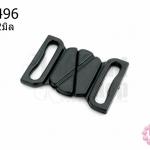 ตะขอเกี่ยว พลาสติก สีดำ 24X32มิล(1ชิ้น)