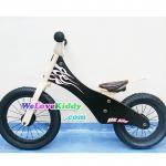 รถจักรยานเด็กเล่นทรงตัว 2 ล้อ รุ่น Speedster-flamechopper สีดำ : แบบไม้ รหัส CV003