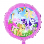 ลูกโป่งฟลอย์การ์ตูน My Little Pony ทรงกลม - My Little Pony Foil Round Balloon / Item No. TL-B042