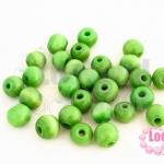 ลูกปัดแก้ว ตาแมว สีเขียว 8มิล (1ขีด/171ชิ้น)