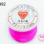 เอ็นยืด สีชมพู ม้วนใหญ่ (1ม้วน/30หลา)
