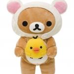 ตุ๊กตา RILAKKUMA ชุดหมีน้อย (I LOVE RILAKKUMA)