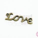 จี้ทองเหลือง LOVE 10x30 มิล(1ชิ้น)