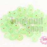 ลูกปัดแก้ว ทรงจานบิน สีเขียวอ่อน 8มิล (1ขีด/261ชิ้น)