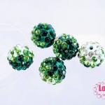 บอลเพชร เกรดดี 10 มิล ไล่สี สีเขียว