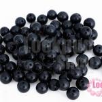 ลูกปัดแก้ว ตาแมว สีดำ 6มิล (1ขีด/469ชิ้น)