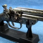 ปืนโบราณ ปืนไฟแช็ค S-70 มีฐานตั้งโต๊ะได้ ราคา โรงเกลือ คลองถม บ้านหม้อ