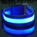 สายรัดแขนแถบไฟ LED กระพริบแสง สีฟ้า