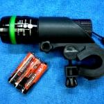 ไฟหน้าจักรยาน เลนส์ซูม หลอด LED 3 ฟังชั่น RH-3030