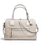 กระเป๋า COACH  POPPY SIGNATURE C MINI OXFORD  EAST WEST SATCHEL F25047