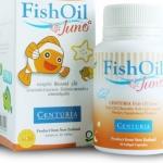 Centuria Fish Oil Juno 30 แคปซูล เซนจูเรีย น้ำมันปลา จูโน่ แบบเคี้ยวสำหรับเด็ก วันหมดอายุ 17/12/2014
