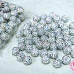 บอลเพชร เกรดดี สีขาวเพชรสีรุ้ง 12 มิล (1ห่อ/100ชิ้น)