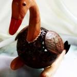 โคมไฟกะลามะพร้าวรูปเป็ด Coconut Shell Lamp Ducky
