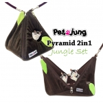PJ-PYR002-JG2 PetsJunG - Pyramid 2in1 Jungle Set บ้านปิรามิด 2in1