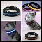 ปลอกคอ LED ลาย Pluto Collar สีฟ้า ไซส์ XL สำหรับสุนัข