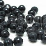 ลูกปัดมุก พลาสติก สีดำ 6มิล 1 ขีด (979ชิ้น)