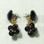 DIY Idea : ต่างหูมุกดำประกายทอง