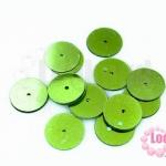 เลื่อมกลม สีเขียวตอง 16มิล
