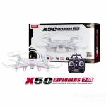 ฮิตสุดๆ โดรนบังคับ บินนิ่ง กล้องชัด SYMA X5C 2.4G 6 Axis Quadcopter HD CAM - สีขาว
