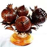 โคมไฟกะลามะพร้าว Coconut Shell Lamp Flowers
