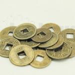 เหรียญจีน สีทองเหลือง 15มิล(10ชิ้น)