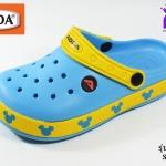รองเท้าหัวปิด ADDA Mickey Mouse แอดด๊ามิกกี้เมาส์ รหัส 52705 สีฟ้า เบอร์ 4-6