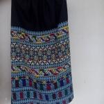 กระโปรงผ้าปัก เย็บสำเร็จเอวยางยืด สำหรับเด็กหญิง