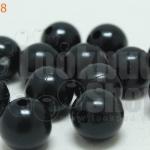ลูกปัดมุก พลาสติก สีดำ 12มิล (1ขีด/100กรัม)