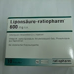 Liponsaure Ratiopharm  iv แอลคาเนทีน สลายไขมันและขับออกทางปัดสาวะและเหงื่อ