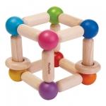 ของเล่นไม้ ของเล่นเด็ก ของเล่นเสริมพัฒนาการ Square Clutching Toy ลูกบากศ์ยืดหยุ่น (ส่งฟรี)